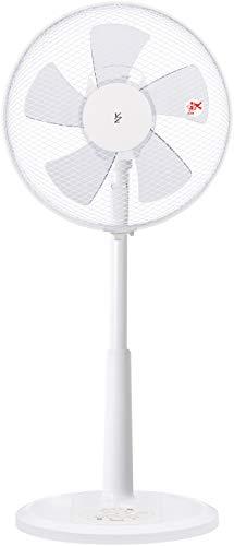 [山善] 扇風機 30cm リビング扇 押しボタンスイッチ 風量3段階調節 タイマー機能付き ホワイト YLT-AK305(W...