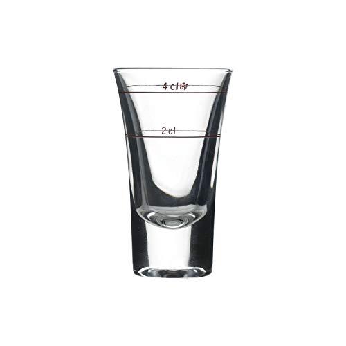 Bormioli Rocco 169249 Dublino Schnapsglas, Shotglas, Stamper, 57ml, mit Füllstrich bei 2cl + 4cl, Glas, transparent, 6 Stück