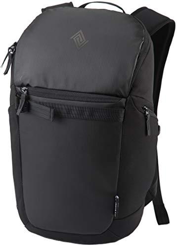 Nitro Nikuro Daypack Alltagsrucksack Schulrucksack Sportrucksack Wasserabweisende Reissverschlüsse Laptopfach, Tough Black, 26 L