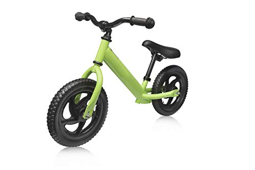 Elifano Bicicleta sin pedales a partir de 3, 4, 5, 6 años, bicicleta de equilibrio de 11 pulgadas, bicicleta deportiva con marco de acero, manillar ajustable y asiento para niños (verde)