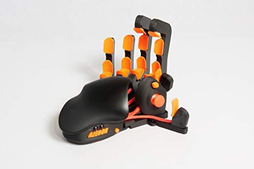 Azeron Classic - Programmierbare Gaming Tastenfeld für PC Gaming - 3D gedruckte benutzerdefinierte Tastatur mit analogem Daumenstick und 26 programmierbaren Tasten - für Rechtshänder (Orange)