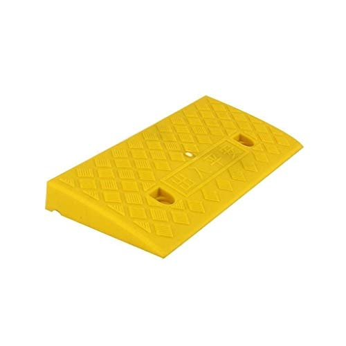 XUZgag Familie Kunststoff Rampen, Umweltschutz Anti-Rutsch-Rollstuhl-Rampen Patio-Garten-Schritt-Matte Schule Krankenhaus Schwellen Rampen Sicher bergauf Pad (Color : Yellow, Size : 50 * 22 * 5CM)
