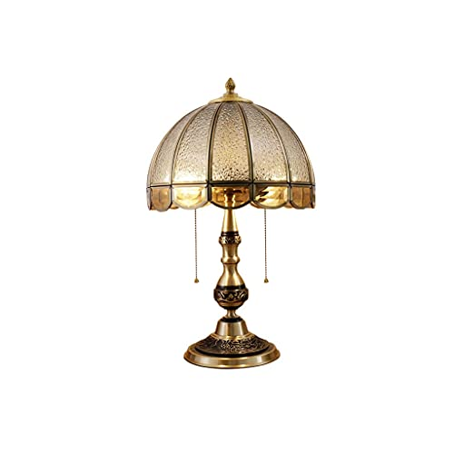 lámpara de mesa Lámparas de escritorio Lámpara de mesa china retro personalizada, lámpara de cama de cobre de lujo ligero para sala de estar de sala de estar dormitorio Lámpara de noche Lámpara de pro