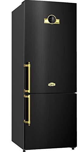Kaiser Empire Schwarz Retro Kühl-Gefrier-Kombination 188cm Höhe,Intelligent system,No Frost, Kühlschrank,Cloud Fresh, kühl gefrierkombi,LED-Beleuchtung,BIO SAFE–Zero-Zone,Super Frost,FREEZE BOX