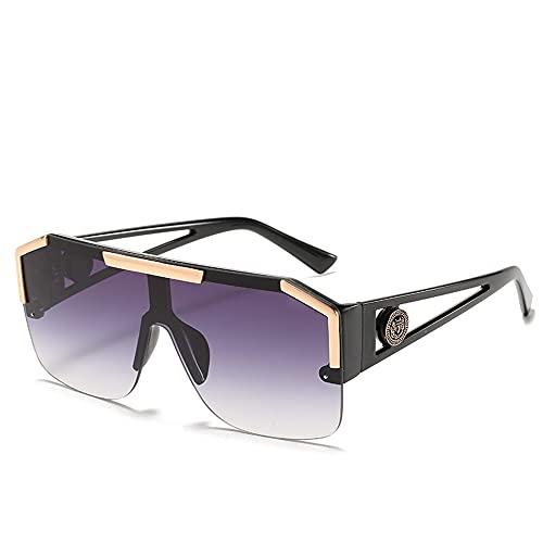 Suufghf Gafas todo en uno con montura grande, estilo deportivo, gafas de sol transparentes y coloridas, gafas de sol (A-8)