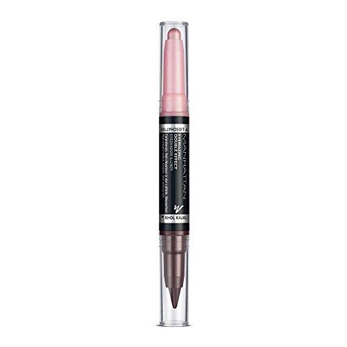 Manhattan Eyemazing Double Effect Eyeshadow & Liner – Rosa 2-in-1 Lidschatten & Eyeliner Stift zum Drehen – Farbe 005 Blinking Pink – 1 x 2g