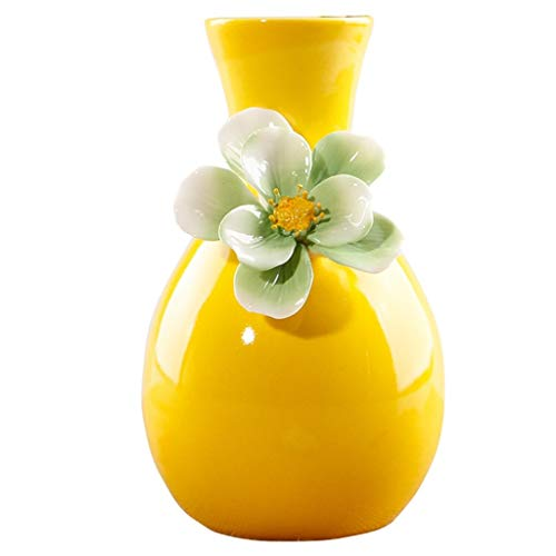 jarrón decorativo Jarrón amarillo,