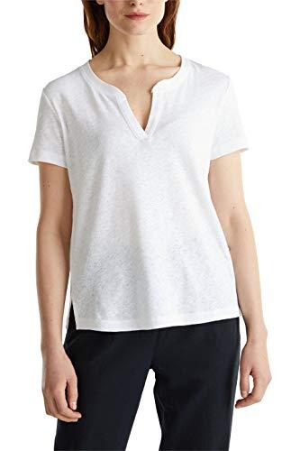 ESPRIT Damen 050EE1K315 T-Shirt, 100/WHITE, XXL