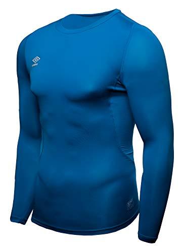 UMBRO Core LS Crew Baselayer Camiseta Térmica, Niños, Azul, 12/152