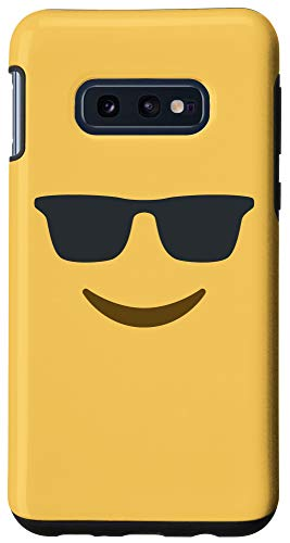 Galaxy S10e Cool Emoji Smiling Face with Sunglasses Case