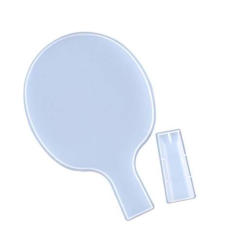 FECHO Moldes de Resina de Ping-Pong, moldes de Silicona para Manualidades, moldes de fundición de Resina, Fabricante de paletas de Ping-Pong para Deportes Familiares