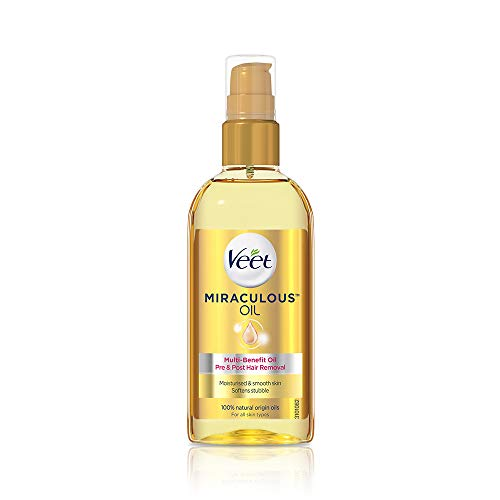 Veet Miraculous Pre and Post Removal Hair Oil, 100ml