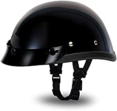 Daytona Helmets Novelty Eagle W/Snaps Hi-Gloss Black, Large