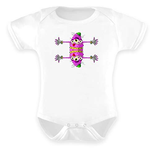 Berlin Monster-ART Adam Body pour bébé - Blanc - 6-12 mois