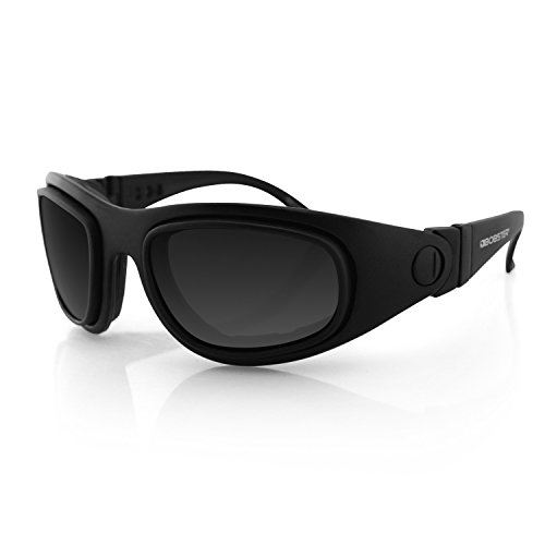 Bobster Eyewear BSSA201AC Sport and Street 2 Convertible Sunglasses, Black Frame/3 Lenses