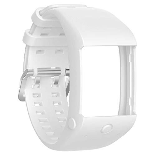 Forgun - Pulsera de Silicona para Reloj Polar M600 GPS, Blanco