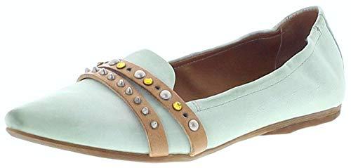 FB Fashion Boots Damen Schuhe A.S.98 525125 Airsteps Ballerinas Lederschuhe Türkis 37 EU inkl. Schuhdeo