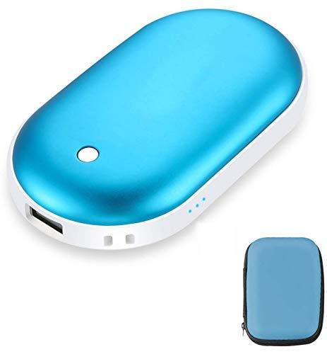 핸드 워머 충전식 USB 핸드 워머 재사용 가능한 5200MAH USB 음료 워머 히터 배터리 핫 포켓 워머 전기 핸드 워머 블루