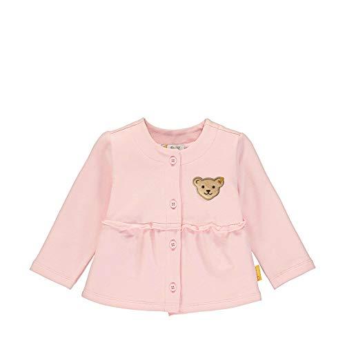 Steiff Baby-Mädchen Sweatjacke, Rosa (Barely Pink 2560), 68 (Herstellergröße: 068)