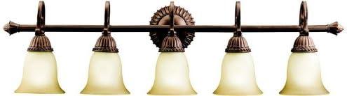 誕生日/お祝い Kichler 5217TZG Larissa Incandescent Light 送料無料 一部地域を除く Bronze Bath Tannery