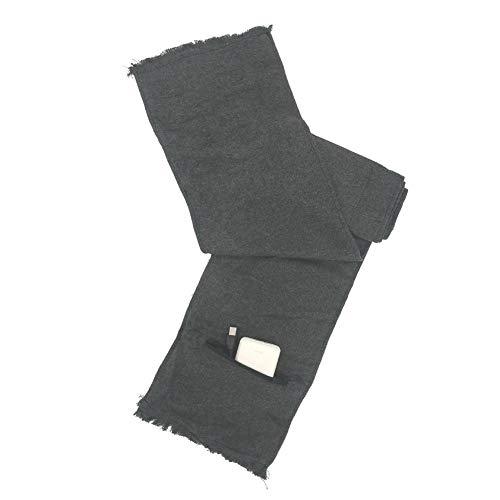 funihut USB Beheizbarer Kaschmir-Schal, Elektrisch beheizter Halswickel für Männer und Frauen als wärmender Schal mit Tasche, grau