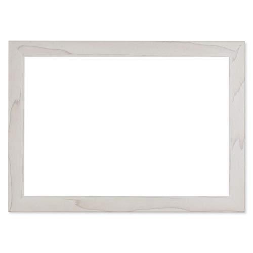 Weißes Holzmuster dekorativer Rahmen für JEEMAK F10 F20 Digital-Bilderrahmen
