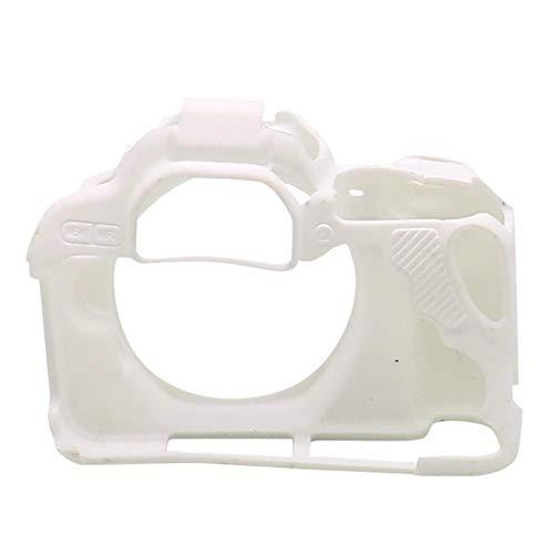 UKtrade Durable Rubber Camera Protect Shell Cubierta de silicona ligera para Canon 200D Cámara Protección caso Buena protección para su cámara (blanco)