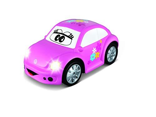 BB Junior VW New Beetle Easy Play RC: Ferngesteuertes Auto ab 18 Monaten, mit Licht & Sound, inkl. Infrarot-Fernbedienung, 21 cm, pink (16-92003)