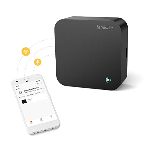 Famisafe WiFi Smart IR Infrared Remote Control Hub All-in-one for Air Conditioner, Voice Control with Alexa &Google Home, Timer Setting for Home Automation