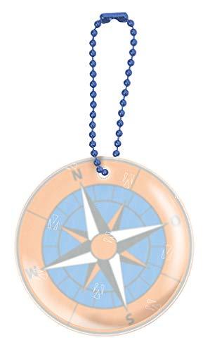 Glimmis Reflektor Kompass | Beidseitig reflektierender Sicherheitsanhänger