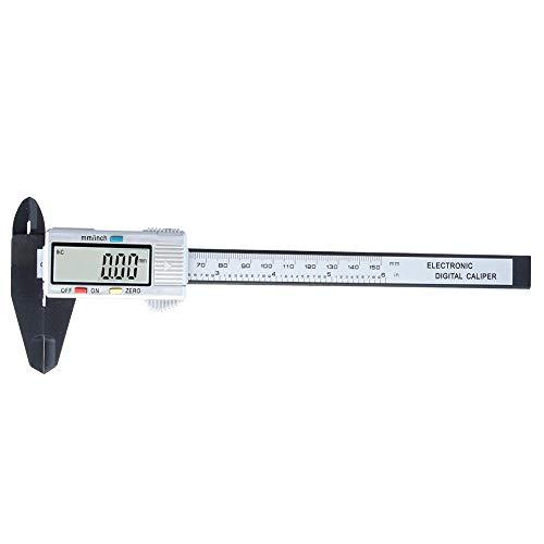 Vernier Caliper 6, Vernier Caliper digital 0-6/150mmx0.01mm Vernier Caliper Micrómetro para mediciones interiores, exteriores, profundidad y escalones