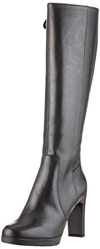 Geox Damen D ANNYA HIGH E Hohe Stiefel, Schwarz (Black C9999), 41 EU