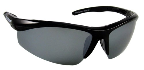 Sea Striker Captain's Choice Polarized Sunglasses with Black Frame,Silver Mirror and Grey Lens (Fits Medium to Large Faces)