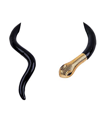 SIX Auffällige Halskette in Schlangenform mit goldenen Details, Kostüm, Karneval, Schlange, Cleoprata, Fasching (790-516)