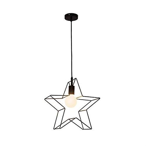 SLSMD stijl ijzeren kroonluchter, stijl metalen kroonluchter, plafondlamp, smeedijzeren sterlamp, eetkamerkeuken, vensterbank, balkon, bloemenwinkel, gang