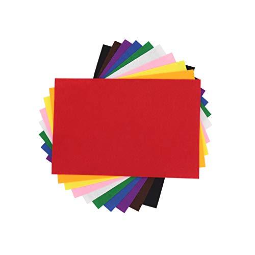 10 Hojas Fieltro sin Adhesivo, A4 1mm para DIY Decorar, Diseñar y Manualidades