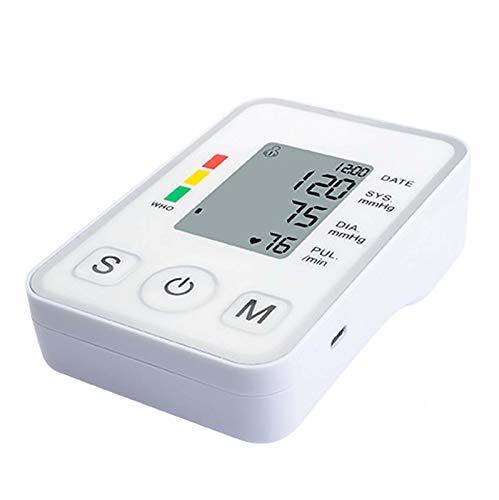 snmi Monitor de presión Arterial de muñeca, Brazalete de presión Arterial con Carga USB, Modo de Memoria de Lectura de 120, Brazalete Ajustable e indicador de Latido cardíaco Irregular