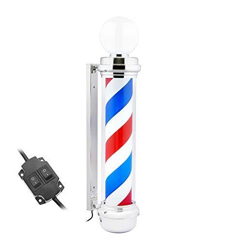 PrimeMatik - Poste de barbero Luminoso y Giratorio con lámpara Superior para peluquerías de 230 x 1110 mm