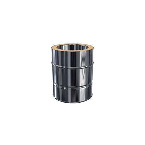 Edelstahlschornstein Längenelement 250 mm DW 150 doppelwandig inkl. Klemmband