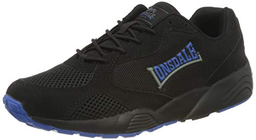 Lonsdale ESTON, Zapatillas para Correr de Carretera Hombre, Negro Reflex Azul, 42 EU