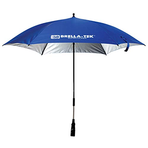 Franklin Sports All Position Umbrella with Universal Clamp – Sideline Brella-Tek  – Sun Protection – UPF 50+