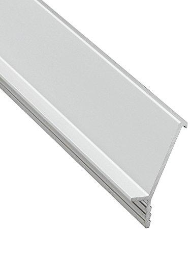 Design Griffleiste Aluminium Möbelgriff Küche Profilleiste kürzbar für grifflose Fronten - H8250 | Länge 2500 mm | Griff silber eloxiert | MADE IN GERMANY | Möbelbeschläge von GedoTec®