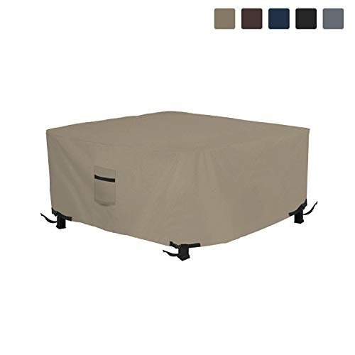 Fire Pit Outdoor Covers - Waterproof, 100% UV Resistant Square Fire Pit Cover, 12Oz PVC Fabric with Air Pockets and Drawstring for Snugfit to Withstand Winds & Storms. (36\