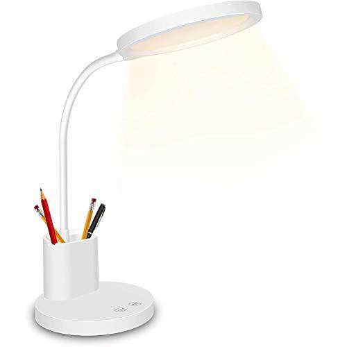 Nargut Auge Schutz LED Tisch Lampe Schreibtisch Lampe mit Stift Halter wiederaufladbar Touch Stepless Dimmen Farbe Nachttisch Lampen