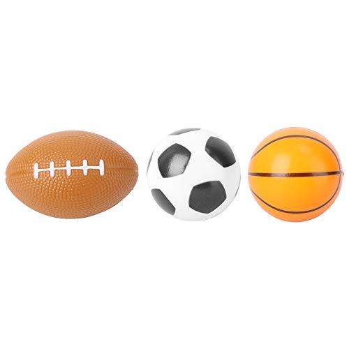 WINOMO 3pcs Mini Bolas De Deporte Suave Baloncesto Fútbol Juguetes Divertidos Favores Para Niños Niños