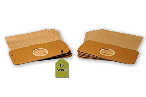 eVendix Staubsaugerbeutel passend für Novotec IC 2000, 10 Staubbeutel + 2 Mikro-Filter + 2 Motor-Filter, kompatibel mit Swirl F94