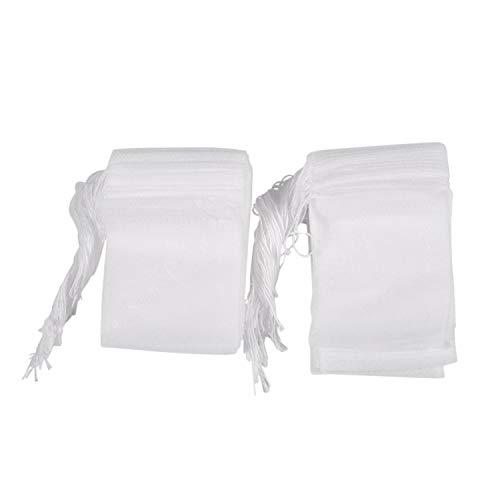 sachet de the vide - SODIAL(R) 100Pcs jetables sachet de the vide avec fil papier a filtre etanche