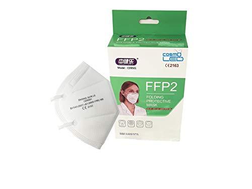 50 Stück - CE 2834 EU-konforme FFP2 Masken, einzeln verpackt - FFP2/KN95 Atemschutzmasken Vorratspackung 50er Set