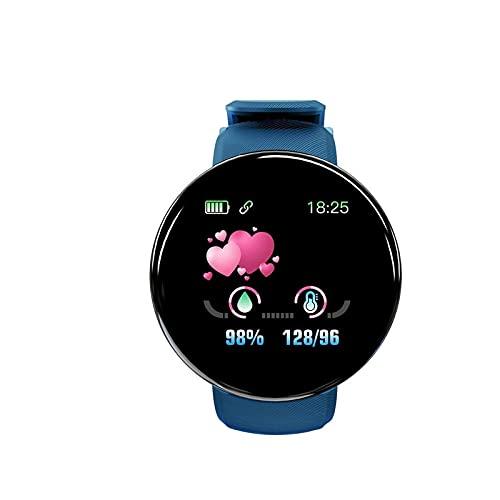 Femmes Hommes Fitness Tracker Montre HD Écran Tactile Complet Compatible avec Android iOS, Podomètre Moniteur de Fréquence Cardiaque Sommeil Plusieurs Modes Étanche IP65 GPS Montre (Bleu)