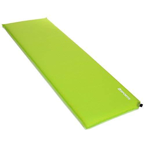 LCP Sports Selbstaufblasende Luftmatratze, Indoor Outdoor, 200x66x3 cm, Grün